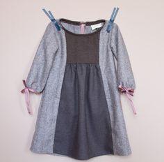 oliver + s hide and seek dress + apple picking dress sleeves + keyhole back pinwheel tunic