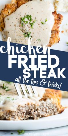 This chicken fried steak is better than ANY restaurant. And I have all the tips and tricks that you need to be able to make this at home! Turkey Recipes, Meat Recipes, Chicken Recipes, Dinner Recipes, Cooking Recipes, Chicken Fried Steak Easy, Chicken Friend Steak, Thai Chicken, Kitchens