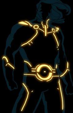 Sentry.  Tron style Marvel character by Kristafer Anka @ http://anklesnsocks.deviantart.com/gallery/27312045.