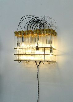 Wall Sconce, Wall Lighting, Moaned Lighting, Lighting, Test Tube Lighting,  Scientific