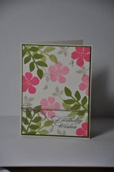 Birthday card by feline - Cards and Paper Crafts at Splitcoaststampers-Secret Garden