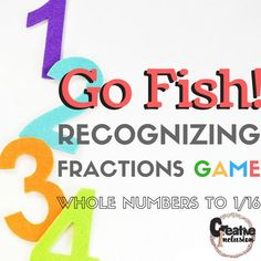 Go Fish! FractionsIncluded are 68 fraction matches  in full color!Print on cardstock, laminate and have available to use FOREVER!.  This is also a great tool to support RTI or MTSS!*****************************************************************************If you like this product, you might also be interested in the following additional products from my store!