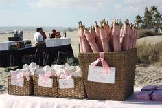 cute idea for a beach wedding..