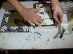 Como fazer mosaico com espelho - How to make mosaic mirror - Cómo hacer ...