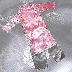 Ao Dai, Vietnamese Traditional Dress for Children - Pink Aodai/Sixe#10 - AO2410 $38.00 #topseller