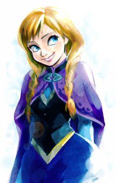 Frozen, Anna, by godohelp @ deviantART
