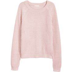 Rib-knit Sweater $24.99 (24 CHF) ❤ liked on Polyvore featuring tops, sweaters, long length sweaters, rib knit sweater, long length tops, ribbed knit sweater and pink top
