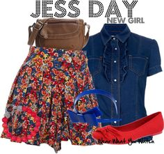 Inspired by New Girl character Jess Day played by Zooey Deschanel.
