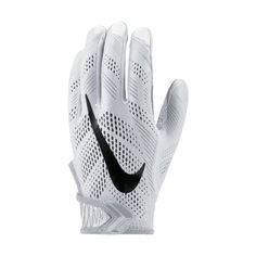 147b9482f94 Nike Adults  Vapor Knit Football Gloves White Grey - Football Equipment