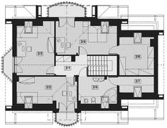 This four bedroom classic house design is an interesting proposition for people with medium-wide plot. The house has a typical shape, which greatly facilitates the construction process. House Construction Plan, Construction Process, Classic House Design, Bedroom Classic, Floor Plans, Decor, Houses, Decoration, Decorating