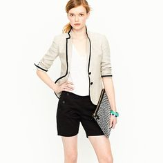 love this for chic warm summer evening outfit  :)  shorts come in green too!