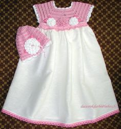 Linen crochet spring / summer dress hat for the baby by Dachuks, $54.00