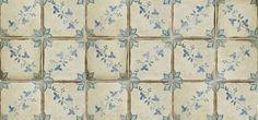 """4-5/8"""" x 4-5/8"""" la spezia 1 decorative tile in robin's egg, off white and colonial blue"""