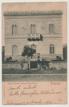 CARTOLINA PALERMO VILLINO VITRANO ARCHITETTO ERNESTO ARMO  PRIMI 900