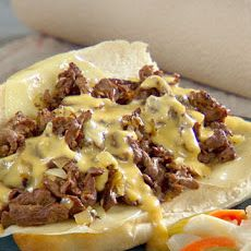 Homemade Philly Cheese Steaks- I would rather provolone cheese