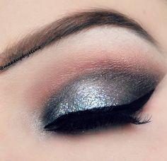 silver glitter look
