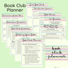 The Ultimate Book Club Planner created by a librarian who gets how book clubs work. Inside you will find 11 high-resolution PDF pages to keep you organized and your club members engaged with easy planning tips for enjoyable discussions. Printable Book Review, Monthly Book Club Planner, book club gift Book Club Recommendations, Book Club List, Book Club Books, Book Clubs, Book Club Questions, Printable Planner, Printables, Silhouette Cameo Tutorials, Learn Calligraphy
