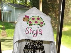 Personalized hooded towel. @Dana corley