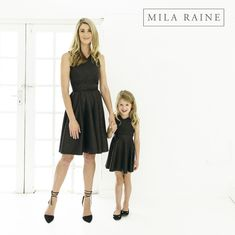 Mom and Me clothing delivered to your door. My Mom, I Dress, My Outfit, Fashion Online, Rain, Clothes, Black, Dresses, Rain Fall