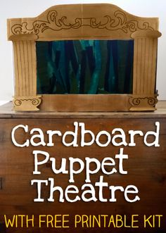 How to Make a Homemade Puppet Theatre - Cardboard.This homemade puppet theatre tutorial is the perfect activity for a rainy afternoon, or it could be a surprise project for a wonderful present complete with a different sets of fairy tale characters. Sock Puppets, Shadow Puppets, Homemade Puppets, Lets Play Music, Carton Diy, Art For Kids, Crafts For Kids, Puppets For Kids, Material Didático