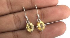 Citrine Jewellery – Citrine Earring, Pure 925 Silver Earring – a unique product by Midas-Jewelry on DaWanda Citrine Earrings, Citrine Gemstone, 925 Silver Earrings, Diamond Earrings, Drop Earrings, Pure Products, Gemstones, Jewellery, Trending Outfits