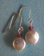 White coin pearl earrings   handmade-beaded-gemstone-jewelry.com