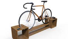 Mueble bicicletero