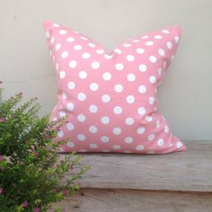 Retro pillow cover Pink pillow cover Dot  pillow cover by iaimshop, $25.00
