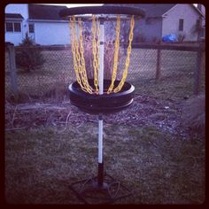 DIY disc golf basket    www.birdshotdiscgolf.com
