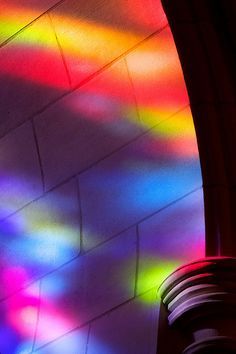 Stained glass reflections bye babqEmqqqmfñ j Rozanne Hakala Rainbow Aesthetic, Neon Aesthetic, Stained Glass Light, Colour Architecture, Rainbow Magic, World Of Color, Over The Rainbow, Light Art, Color Theory