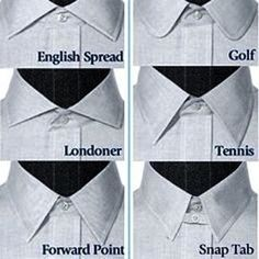 Different types of men's collar.  #mensfashion #menswear #collar #dapper #dubai #dubaitailoring #dubaitailor #collarguide #infographic #fashion #style