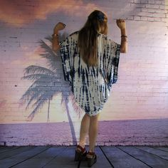 Indigo Shibori Tie Dye Kimono Cardigan Coverup Swimsuit Cocoon  Boho Beach Caftan Clothing on Etsy, £55.02