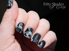 Nail art 50 shades of grey
