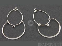 Sterling Silver Pear Drop Chandelier Earring by Beadspoint on Etsy, $9.99