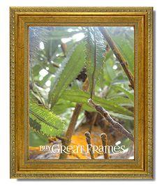 """Picture Frames Trustful Frame Picture Wood Gold Ornate 32""""x28"""" Art Mirror Vtg Gilt Hollywood Regency 50% OFF"""