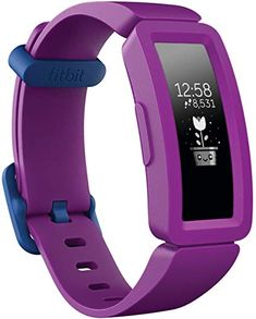 Fitbit Ace 2 Kids Fitness Tracker - Small - Grape - Only at Best Buy Fitness Tracker, Fitness Fun, Fitness Logo, Windows 10, Fitbit App, Bracelet Silicone, Band Workout, Kids Moves, Face Design