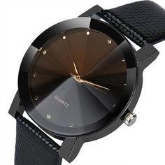 Fantastic Gold Watch Women Casual Leather strap Rhinestone women Watch Bracelet Clock Quartz Wristwatch Montre Femme