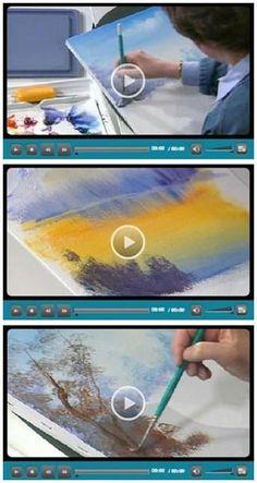 94 Volný Do It Yourself Začátek Artist Videa - Jerryho Artarama vám umožní vychutnat si osm hodin v hodnotě zdarma, snadno, pětiminutových videa s návody pro začátečníky při kreslení, akvarely, malba akrylem a práci s pastely.  Lekce pokrýt všechny základy.  Oni jsou všichni talentovaní profesionálními umělci, kteří sdílejí své tipy a techniky.  (Foto: Začátek umělec videoukázek Susan Scheewe) Jen proklikat vidět, jak se můžete dozvědět při sledování svá oblíbená videa.