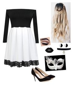 """""""Fun Black And White Party⚪️⚫️"""" by graciesmiles1324 ❤ liked on Polyvore featuring Jimmy Choo and Antica Murrina"""