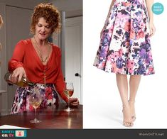 6e6340ab3b67b1 Evelyn s floral skirt on Devious Maids. Outfit Details  https   wornontv.