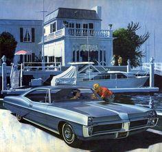 1967 pontiac bonneville   1967 Pontiac Bonneville Hardtop Coupe - 'Balboa Island': Art ...