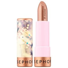 Sephora Collection Lipstick 41 Take A Spin (metal finish) oz/ 4 g Sephora Lipstick, Lipstick Art, Lipstick Swatches, Lipstick Shades, Sephora Makeup, Lipstick Colors, Lipsticks, Metallic Lipstick, Drugstore Makeup