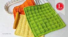 LOOM KNITTING Waffle Stitch Washcloth / Dishcloth Project Pattern