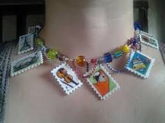 Image result for postage stamp jewellery
