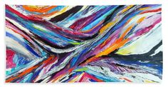 """Sensational Towel (Beach Sheet (37"""" x 74"""")) by Expressionistart studio Priscilla Batzell.  Our towels are great."""