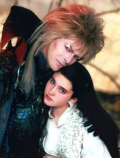Intimate photos of David Bowie, Jennifer Connelly & more from the set of 'Labyrinth' David Bowie Labyrinth, Labyrinth 1986, Labyrinth Movie, Jareth Labyrinth, Jennifer Connelly Labyrinth, Jennifer Connelly Movies, Mtv, Sarah And Jareth, Jim Henson Labyrinth