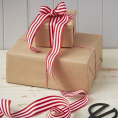 This Festive Red and White Ribbon and Twine Kit is perfect for creating beautiful stand-out gifts this year! In a classic red colour this is perfect for all the family! - Vintage Noel at GingerRay.co.uk