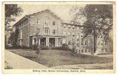 Vintage Old 1927 Bishop Hall Miami University Oxford Ohio Postcard Stamped | eBay