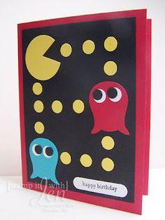 "Pac Man Punch Art - owl punch, 1 3/8 circle, 1/2"" circle, word window"
