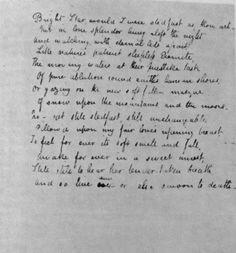 john keats bright star poem